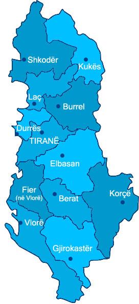 Regioni di Albania